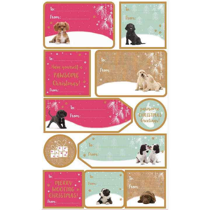 Dog Sticky Gift Labels