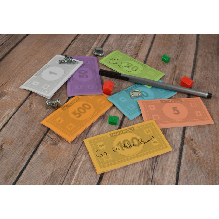 Monopoly Sticky Notes