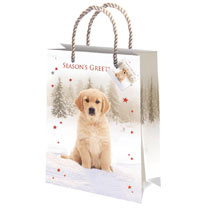Make those presents extra special with a value pack of 8 assorted gift and bottle bags. Mixed dog designs, 4 bottle and 4 gift. Gloss finish and rope