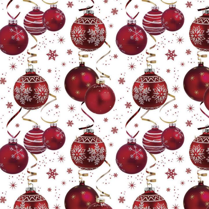 Trio Flat Wrap - Baubles & Golden Reindeer/Snowflake