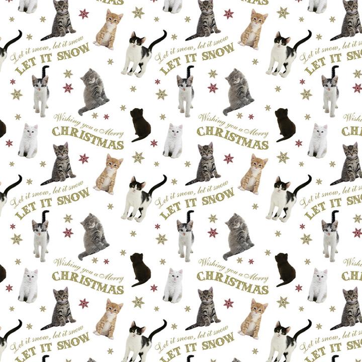 Folded Sheet Wrap - Let it Snow Cats