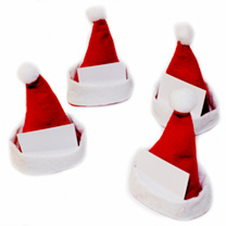 Santa Hat Name Card Holders