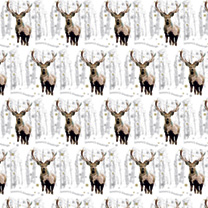 Flat Wrap Sheets - Snowflake Stag & Christmas Reindeer