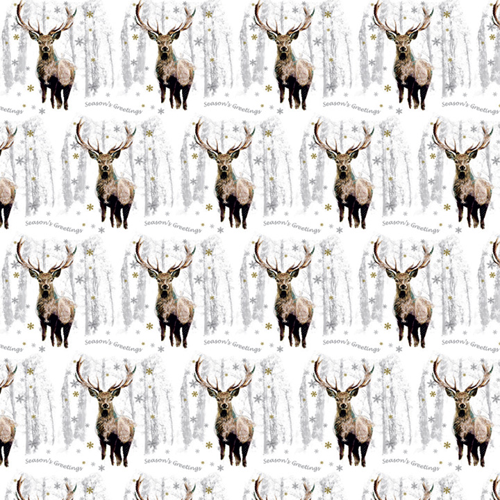 Flat Wrap Sheets - Snowflake Stag & Christmas Reindeer
