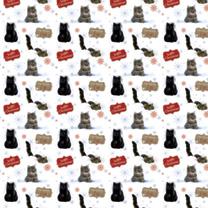 Folded Sheet Wrap - Feline Fun