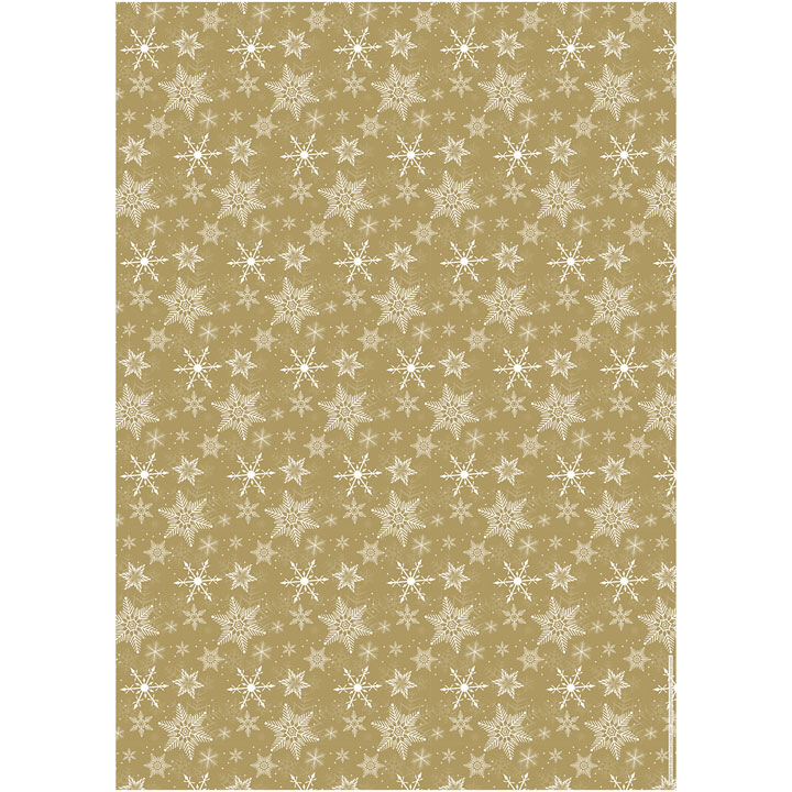 Flat Wrap - Golden Christmas