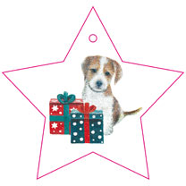 Puppy Present Wrapping Paper & Tags