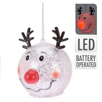 Reindeer LED Ball