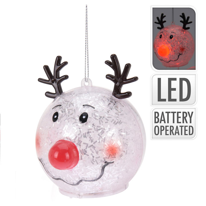 Reindeer LED Ball