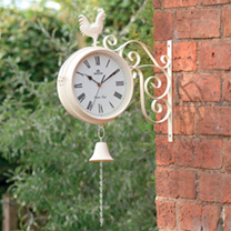 Cream Dual Sided Garden Clock
