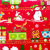 Festive Trains Roll Wrap