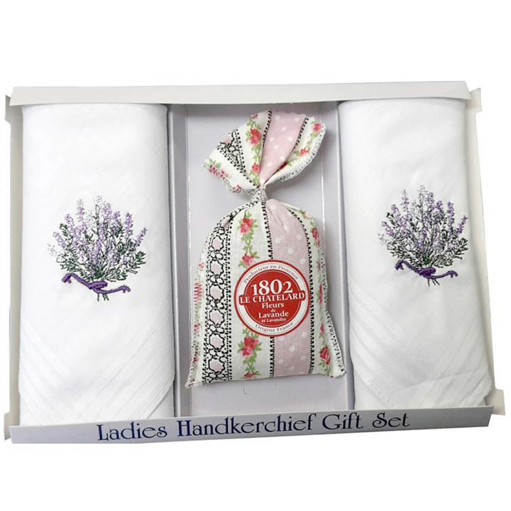 Hankies, Lavender Bag & Scarf