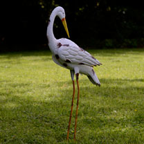 2 Decorative Metal Storks