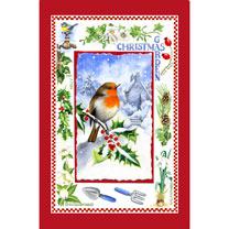 Christmas Garden Tea Towel