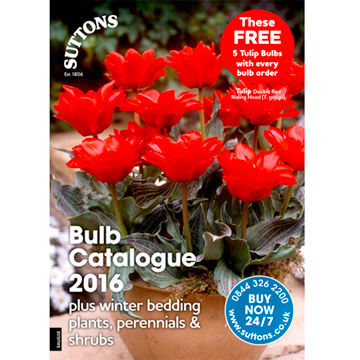 Suttons Bulb Catalogue 2016 including Flower & Veg Plants
