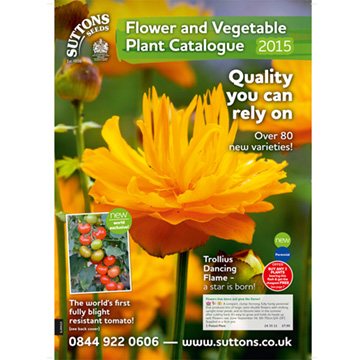 Suttons Flower and Vegetable Plant Catalogue January 2015