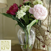 Elegant Peony and Viburnum - Luxury Silk Range