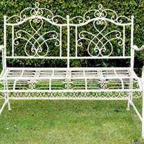 Antique Cream Bench