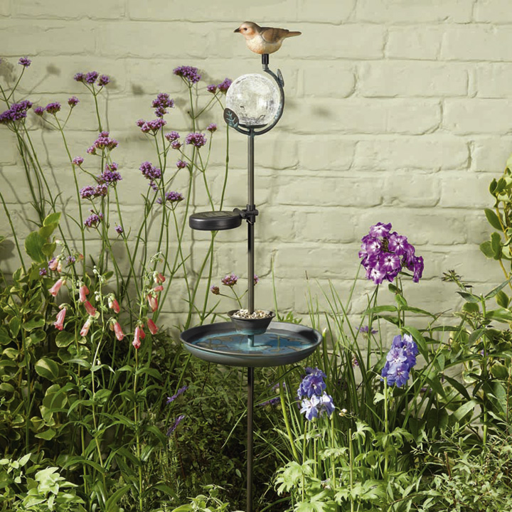 Solar Birdbath Feeder Stake Light
