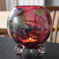 Footed Candle Holder