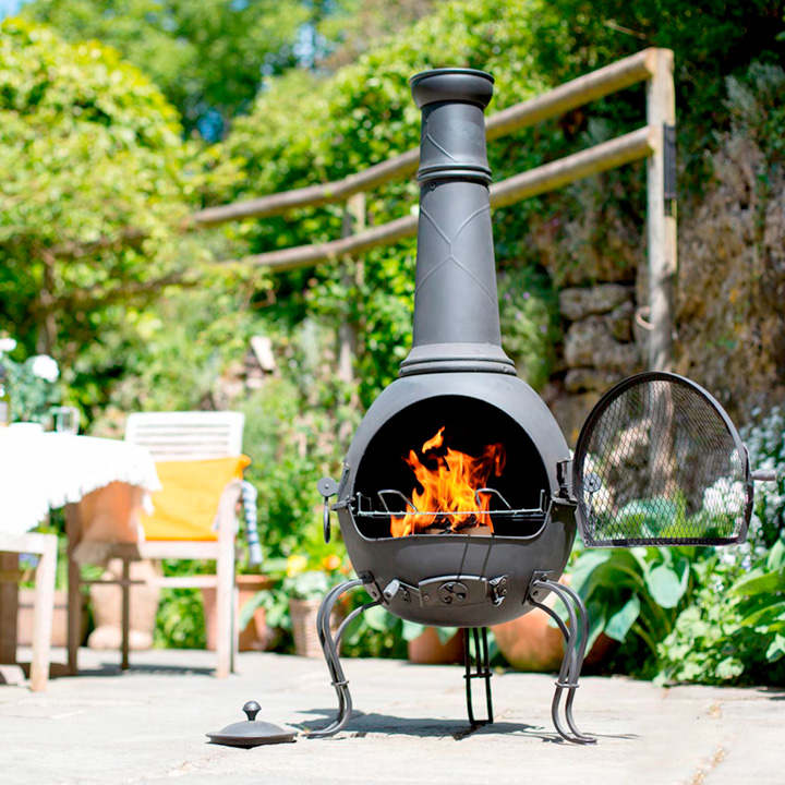 Murcia Chimenea with Grill