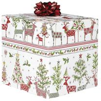 Christmas Roll Wrap - Festive Reindeer