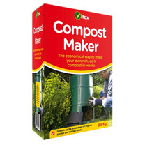 Specially formulated compost accelerator. Speeds up the breakdown of organic garden and kitchen waste. Use to recycle grass cuttings, leaves, egg shel