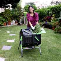 Dual Chamber Tumbling Composter
