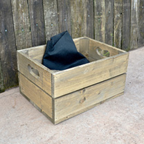 Personalised Empty Crate 2 Slats - 26.5 x 36 x 19cm