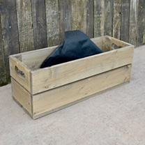 Personalised Empty Crate 2 Slats - 53 x 18 x 19cm