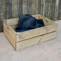 Personalised Empty Crate 2 Slats - 53 x 36 x 19cm