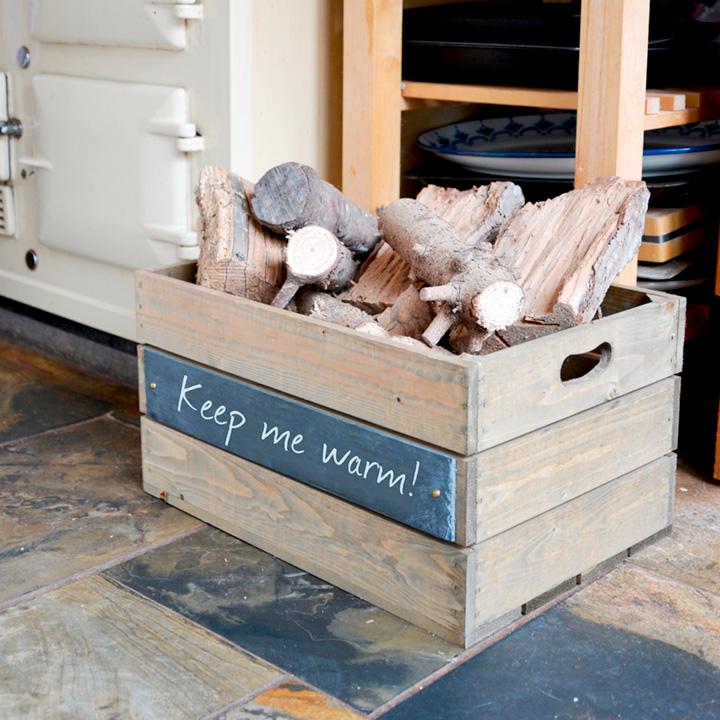 Slate Crate 3 Slats - 53 x 36 x 28cm