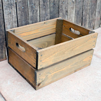 Crate 2 Slats - 26.5 x 36 x 19cm Woodstain