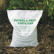 An organic based granular fertiliser with a high potash content (in the form of Sulphate of Potash to promote superior flavour and colour), plus added