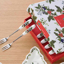 Holly & Ivy Teaspoons and Pastry Forks