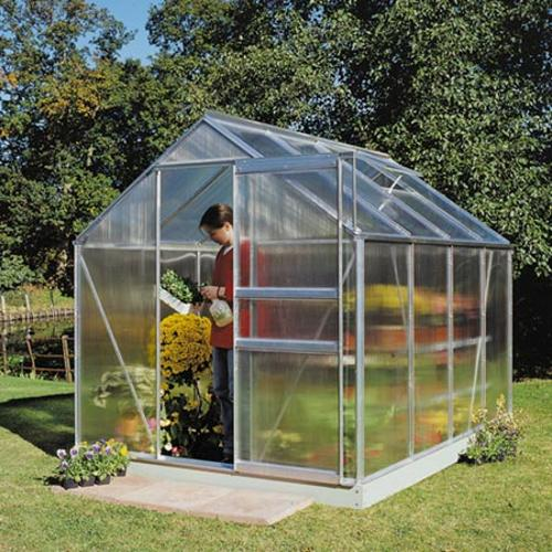 Aluminium Polycarbonate Greenhouse and Base