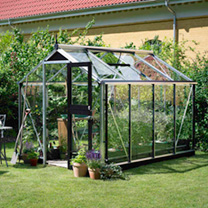Compact Anthracite and Black Greenhouse and Base