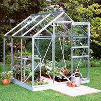 Aluminium 66 Greenhouse & Base - 6' x 6'