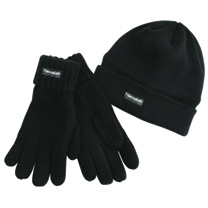 Made extra warm and comfortable by thinsulate thermal lining this essential black hat comes with FREE matching gloves. One size fits most.