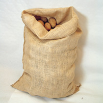 Store your potatoes and other crops in the traditional way in a hessian sack. They're robust enough to use time and time again, and have the advantage