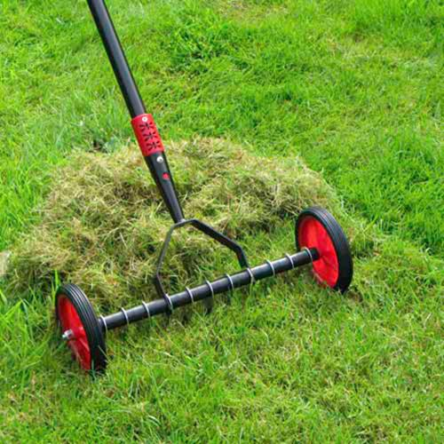 Lawn Scarifier and Rapid Green Pouch