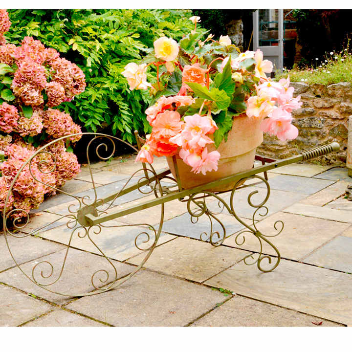 Wheelbarrow Plant Stand