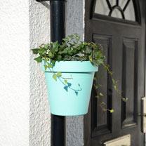 Drainpipe Flowerpot - Blue