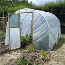 Polytunnel Super Clear 10X10 Inc Anchor Plates & Base Rails