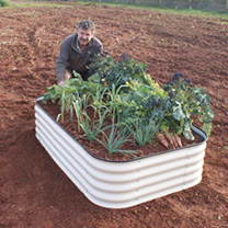 4-in-1 Modular Metal Raised Bed - Sage