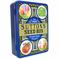 Suttons Collectable Seed Tin & 10 Packets of Seed!