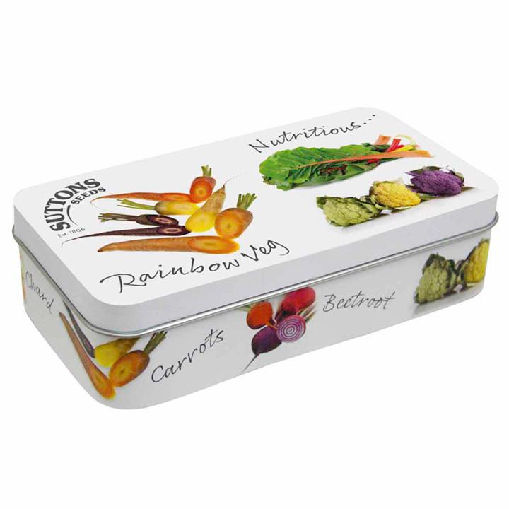 Collectable Seed Tin - Rainbow Veg Design