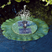 Solar Lily Pad Fountain