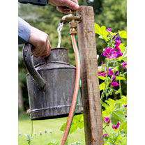 This hose end tap may be set up anywhere in your garden or allotment. Either screw to a suitable piece of timber to enable easy change of location, or