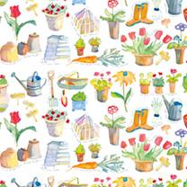 In The Garden Tea Towels